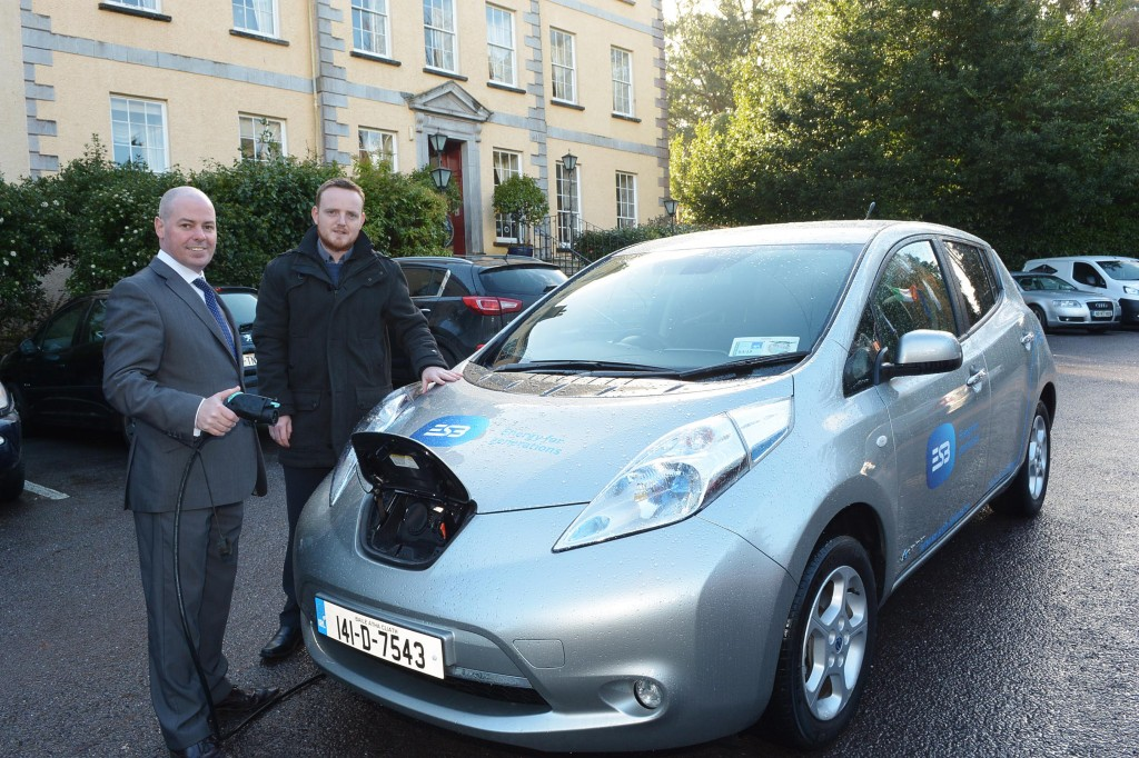 Pictured are Justin McCarthy, General Manager, Maryborough Hotel and Spa Douglas, Cork with Patrick Foley from ESB ecars